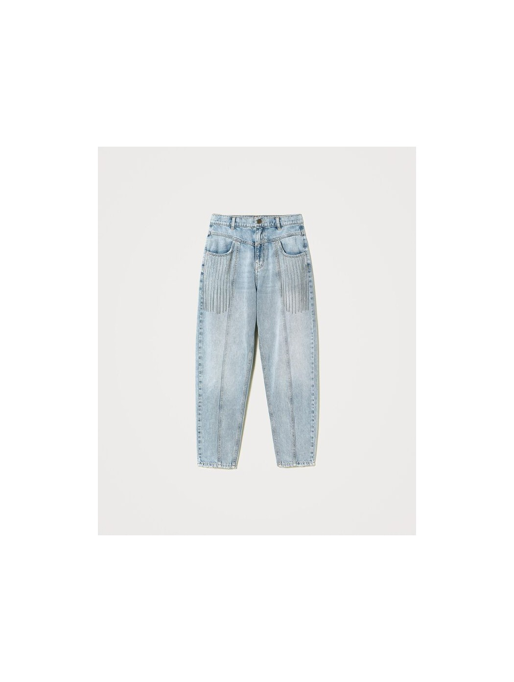 Jeans con frange di castoni TWINSET 211TT2382 00078