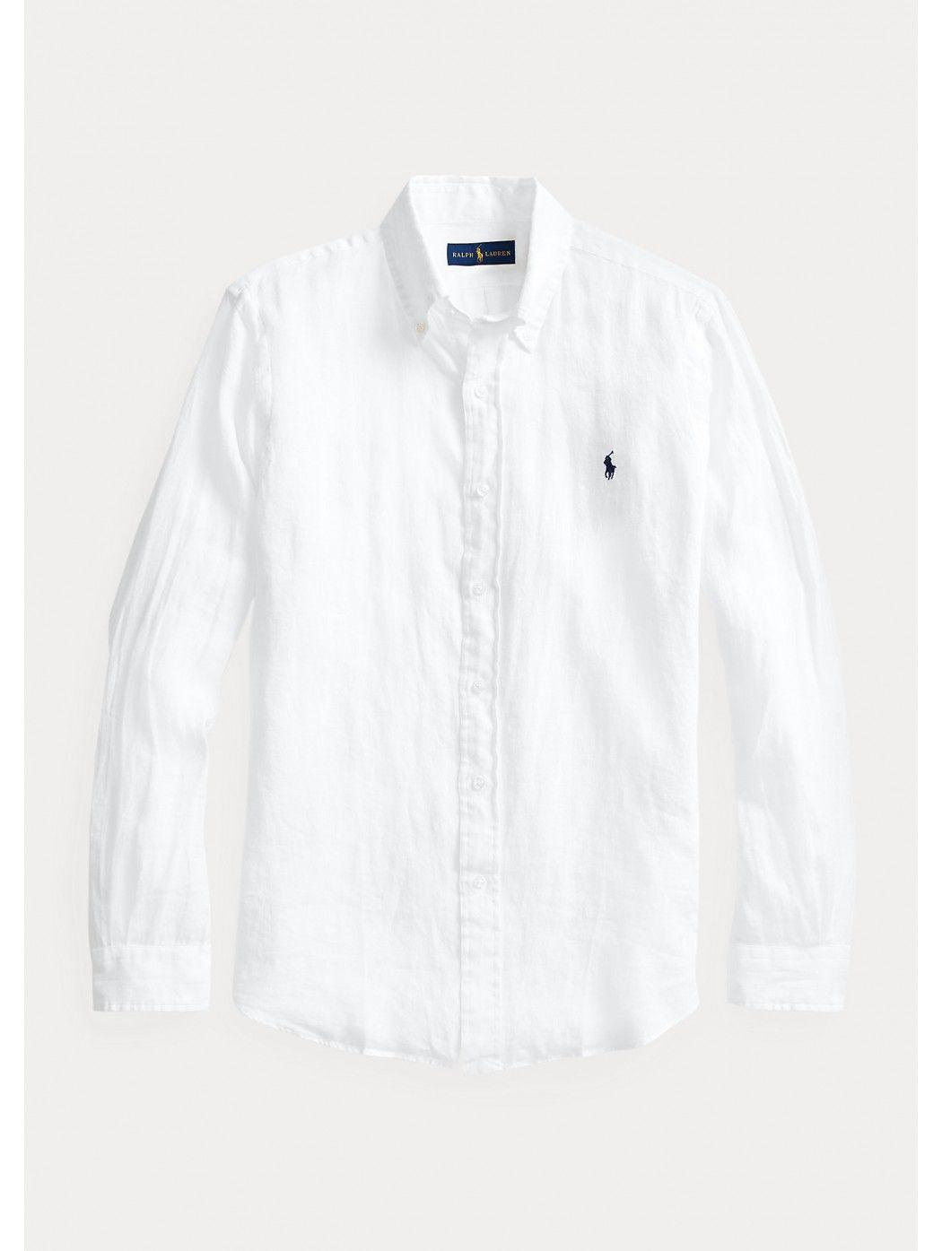 Camicia in lino Slim-Fit POLO RALPH LAUREN UOMO 710829443 002