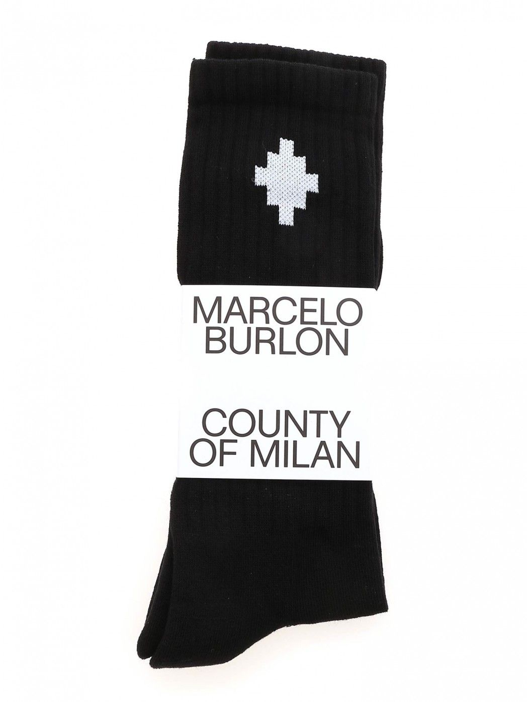 CROSS SIDEWAY MIDHIGH SOCKS MARCELO BURLON CMRA010F21KNI001 1001
